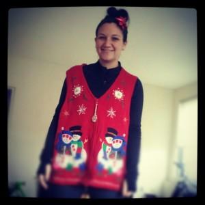 Running Christmas Sweater