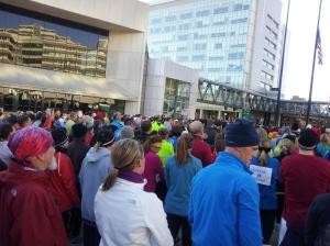 Crowd at Boston Run
